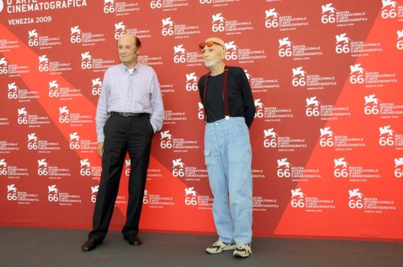 Venezia 2009: Francesco Alberoni con Mario Monicelli