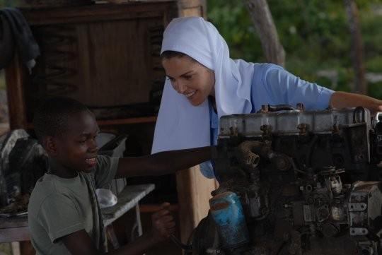 Barbara De Rossi nel film tv Un coccodrillo per amico