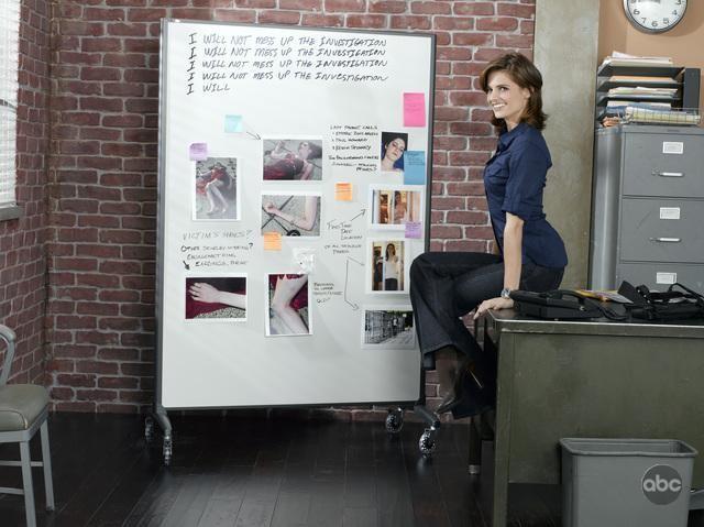 Stana Katic, che interpreta il ruolo del Det. Beckett, per la seconda stagione di Castle