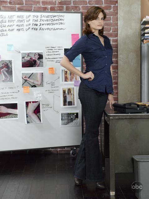 Stana Katic in una foto promozionale per la seconda stagione di Castle