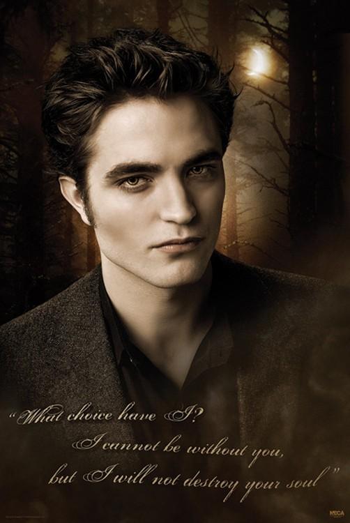 Un poster dedicato al personaggio di Edward Cullen (R. Pattinson) per il film Twilight: New Moon