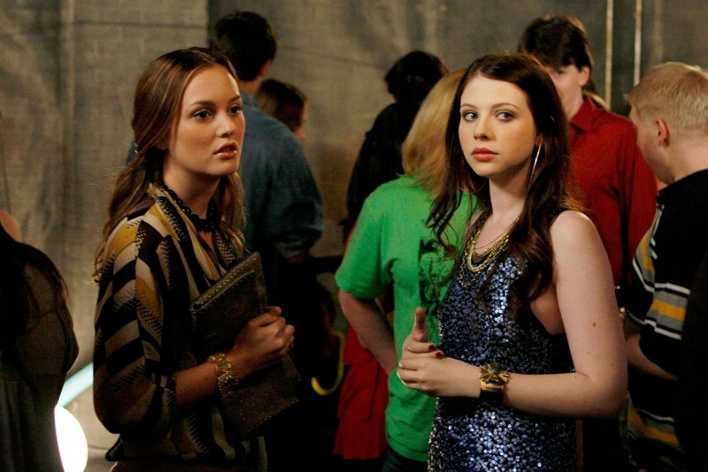 Blair Waldorf (Leighton Meester) con Georgina Sparks (Michelle Trachtenberg) nell'episodio The Freshman di Gossip Girl