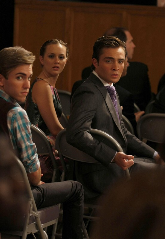 Ed Westwick e Leighton Meester in una scena dell'episodio The Lost Boy di Gossip Girl, season 3