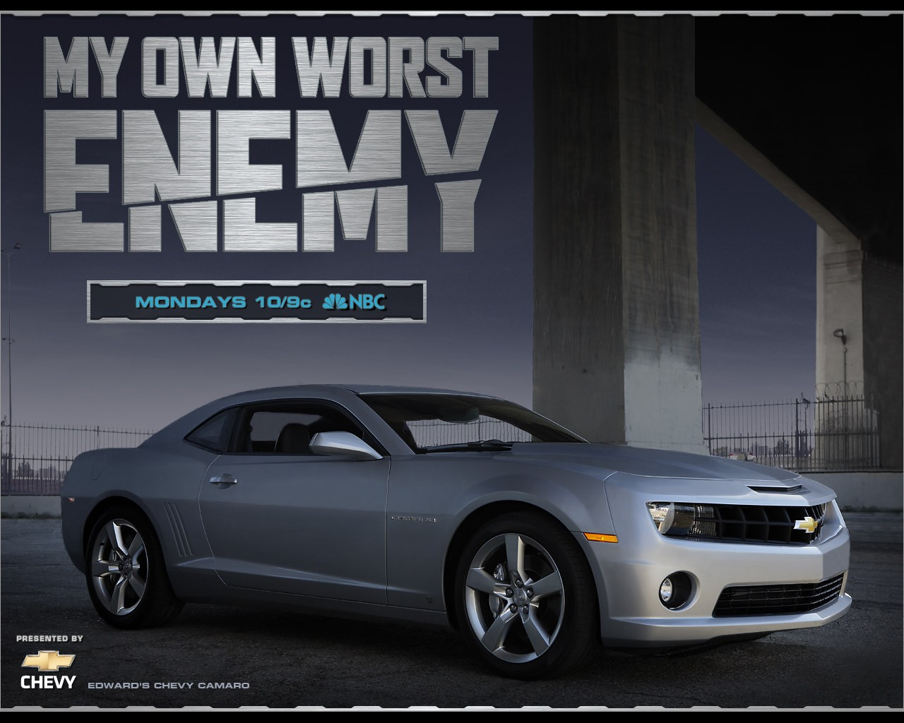 Wallpaper della serie My Own Worst Enemy, con la Chevy camaro di Edward