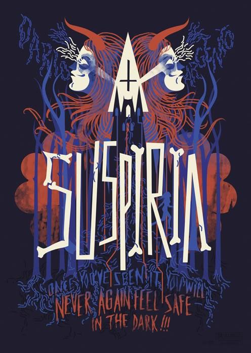 Un poster del film Suspiria (1977) di Dario Argento