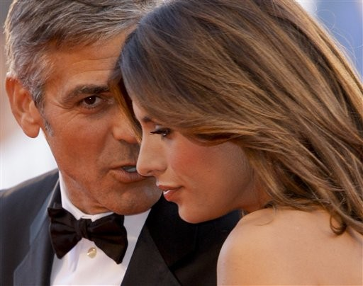 Venezia 2009: George Clooney accanto alla sua fidanzata, Elisabetta Canalis