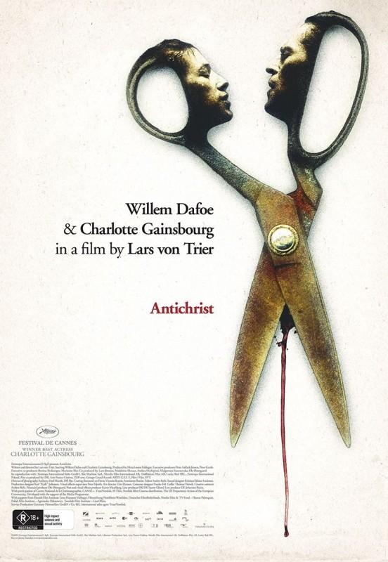 La locandina australiana del film Antichrist