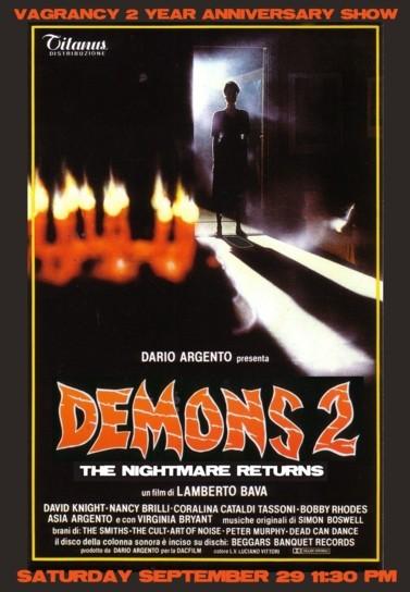 Manifesto americano del film Demoni 2: l\'incubo ritorna (1986)