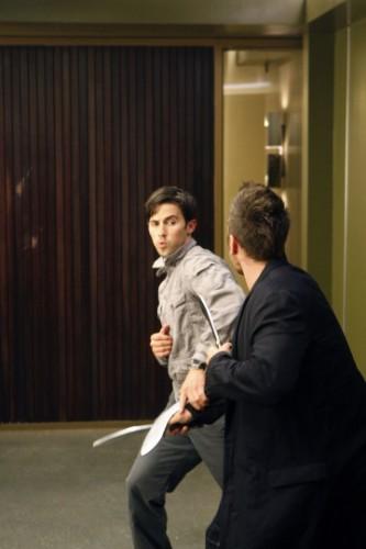Milo Ventimiglia in una scena della premiere della stagione 4 di Heroes