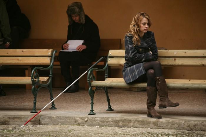 Nathalie Rapti Gomez è una ragazza non vedente in un episodio de L'ispettore Coliandro 3 dal titolo Sangue in facoltà