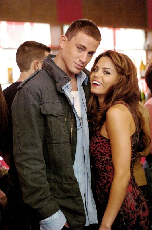 Channing Tatum e Jenna Dewan sul set del film Step Up
