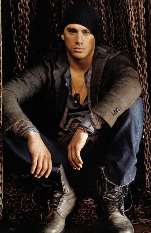 L'attore americano Channing Tatum per un servizio fotografico