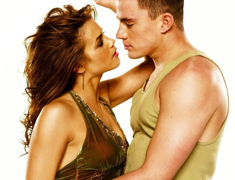 Un'immagine promo di Channing Tatum (Tyler) e Jenna Dewan (Nora) per il film Step Up