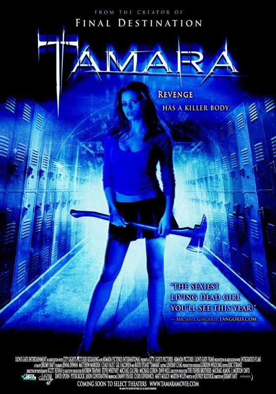 Una locandina tutta in blu per Tamara