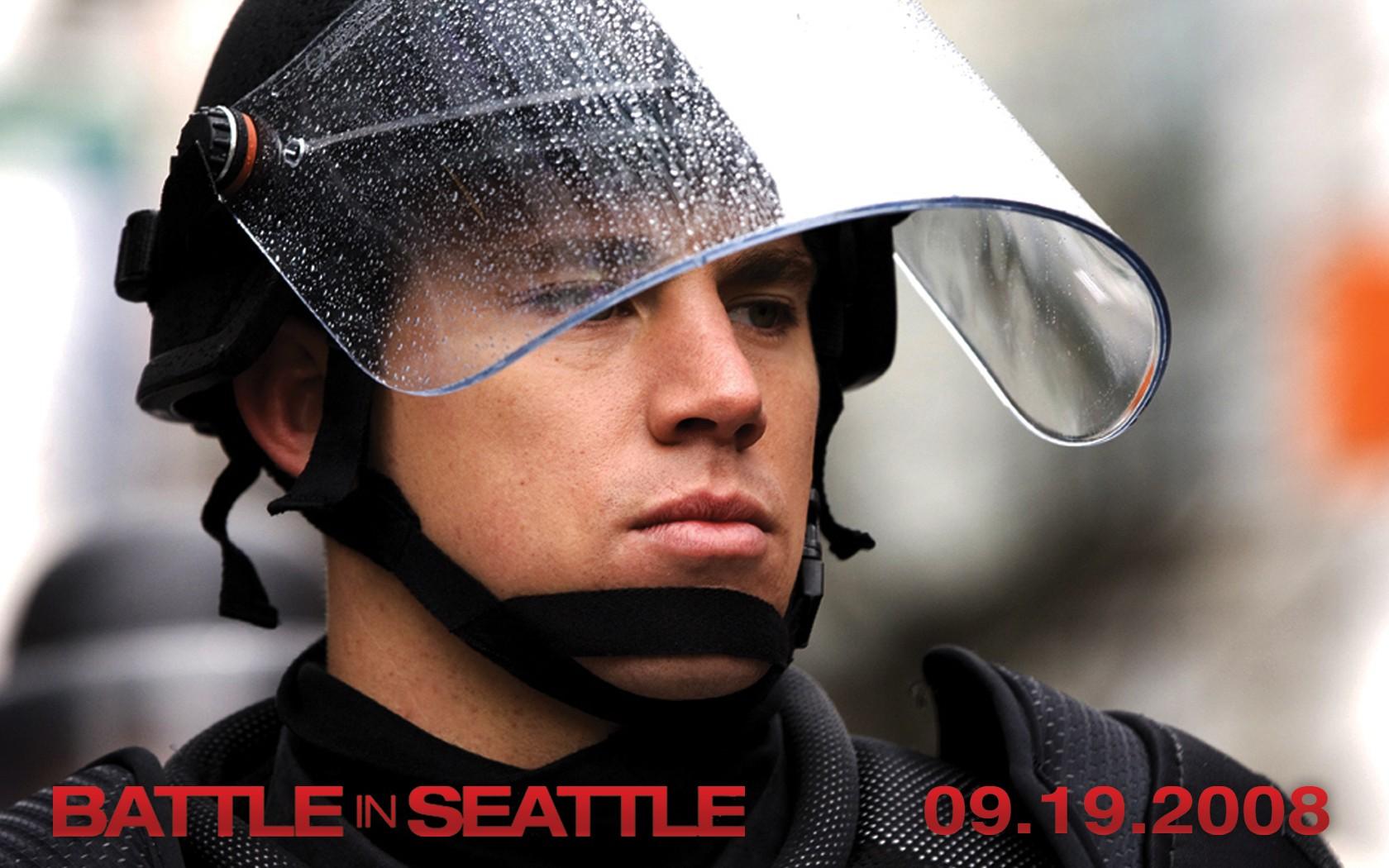 Wallpaper del film Battle in Seattle, con Channing Tatum