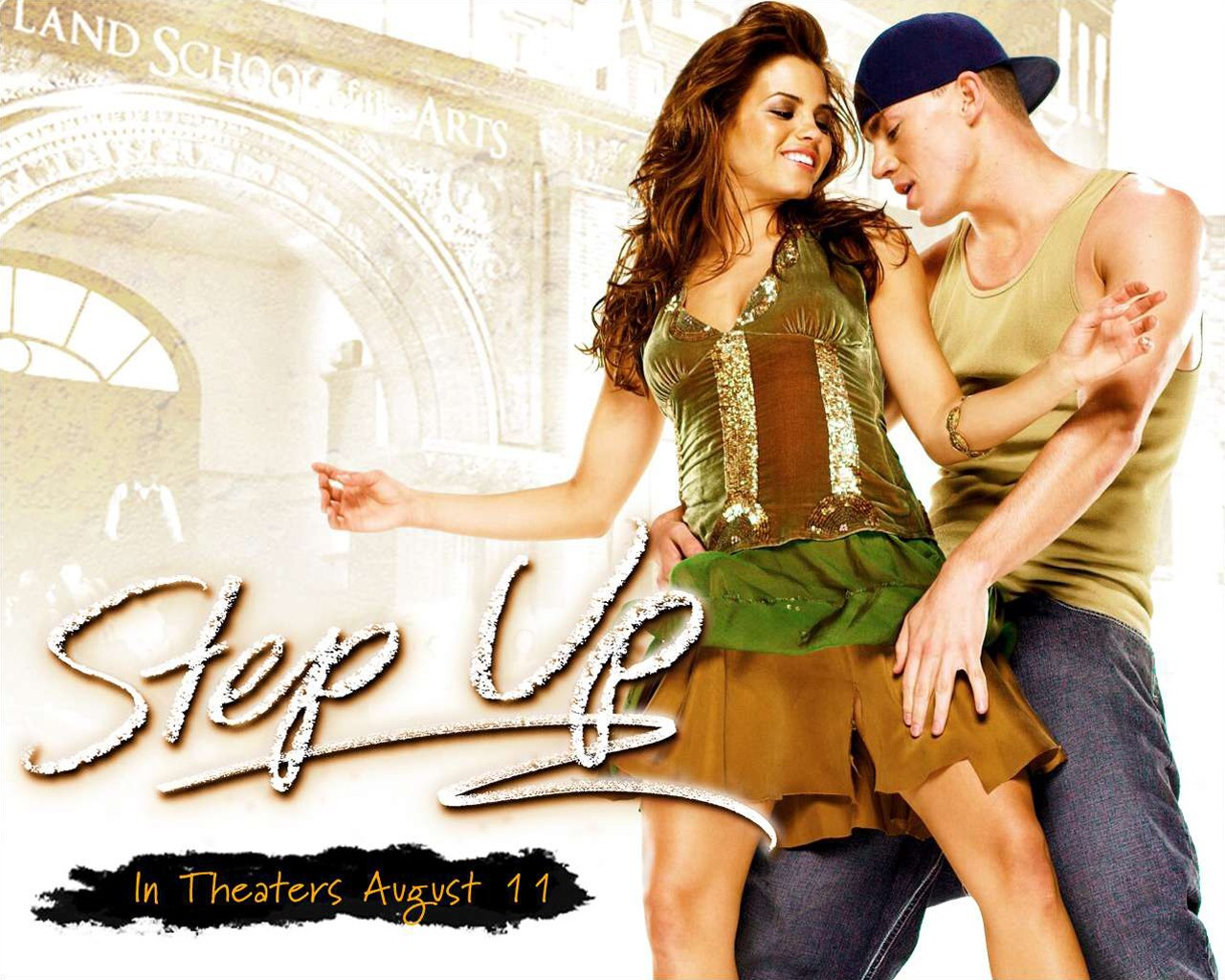 Wallpaper di Channing Tatum (Tyler) e Jenna Dewan (Nora) per il film Step Up