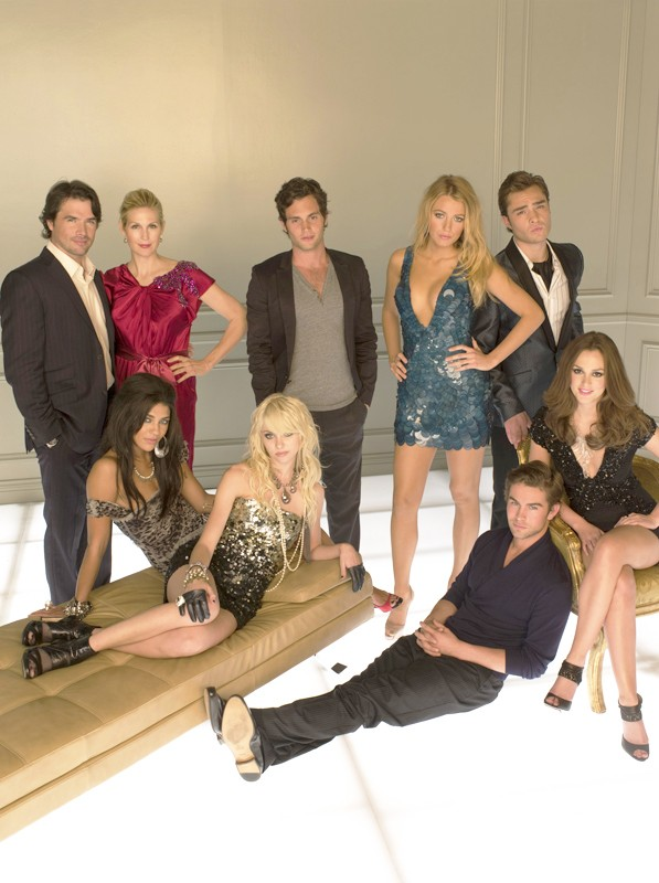 Una foto promozionale del cast della season 3 di Gossip Girl