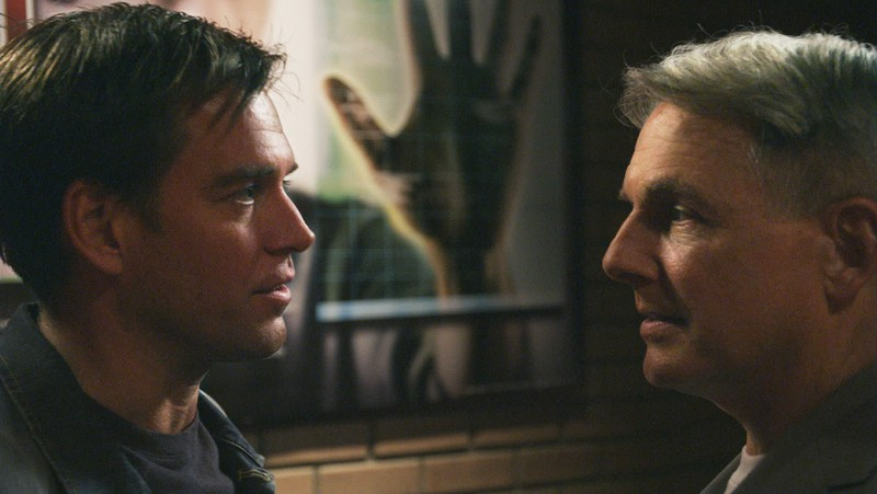 Michael Weatherly e Mark Harmon uno di fronte all'altro nell'episodio Truth Or Consequences di N.C.I.S.