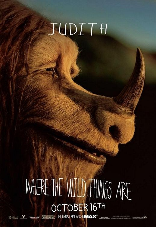 Character Poster 3 (Judith) per Where the Wild Things Are