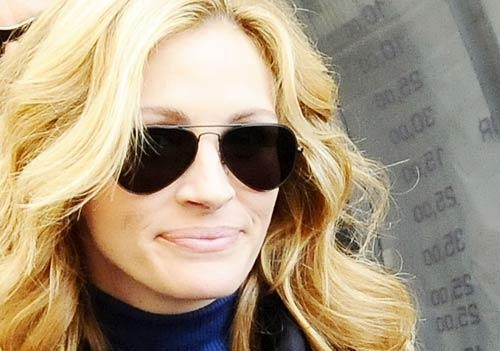 Julia Roberts a Napoli, nel quartiere di Forcella, per le riprese del film Eat, Pray, Love.