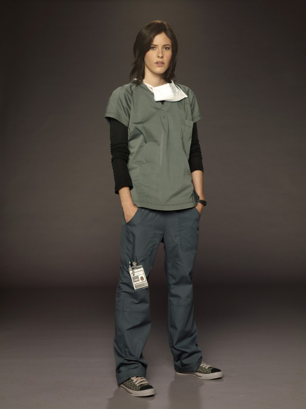 Katherine Moennig è la dottoressa Miranda Foster in uno scatto promozionale della serie Three Rivers
