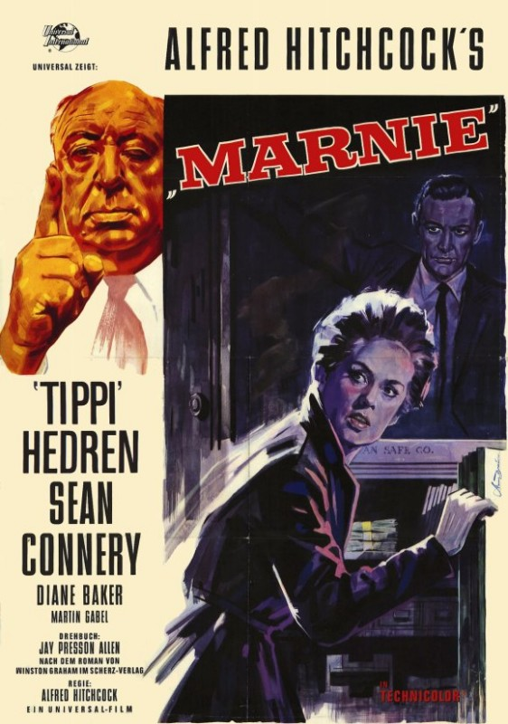 Locandina americana del film Marnie (1964)