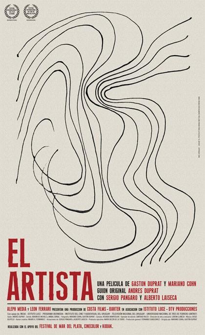 Locandina spagnola del film L\'artista.