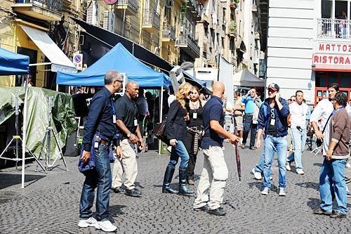 Napoli: Julia Roberts a Forcella, per le riprese del film Eat, Pray, Love.
