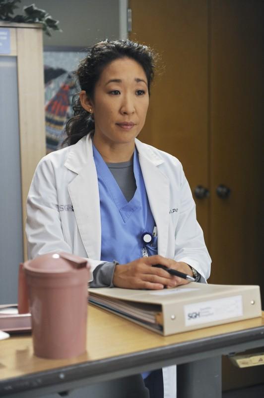 Sandra Oh in un momento della premiere della sesta stagione della serie tv  Grey's Anatomy