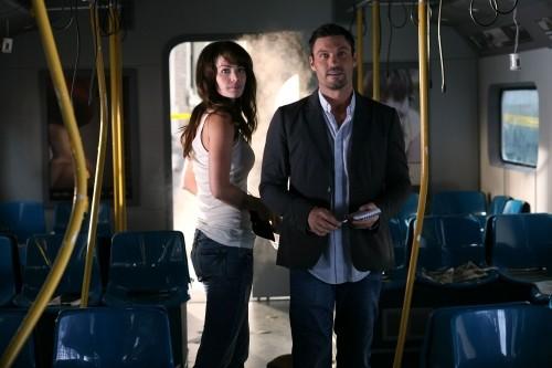 Erica Durance e Brian Austin Green nell'episodio Savior di Smallville