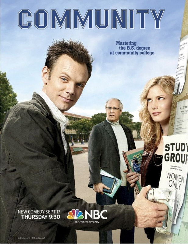 Un poster della serie Community