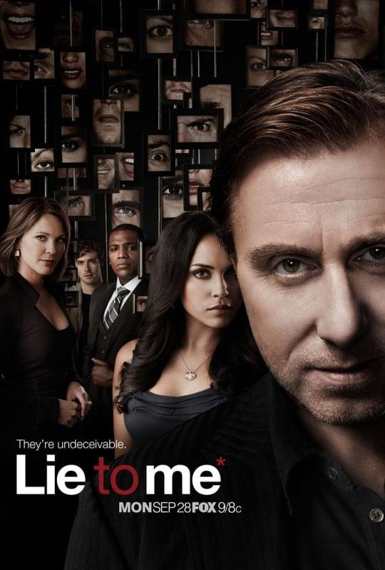 Un poster della stagione 2 di Lie to Me