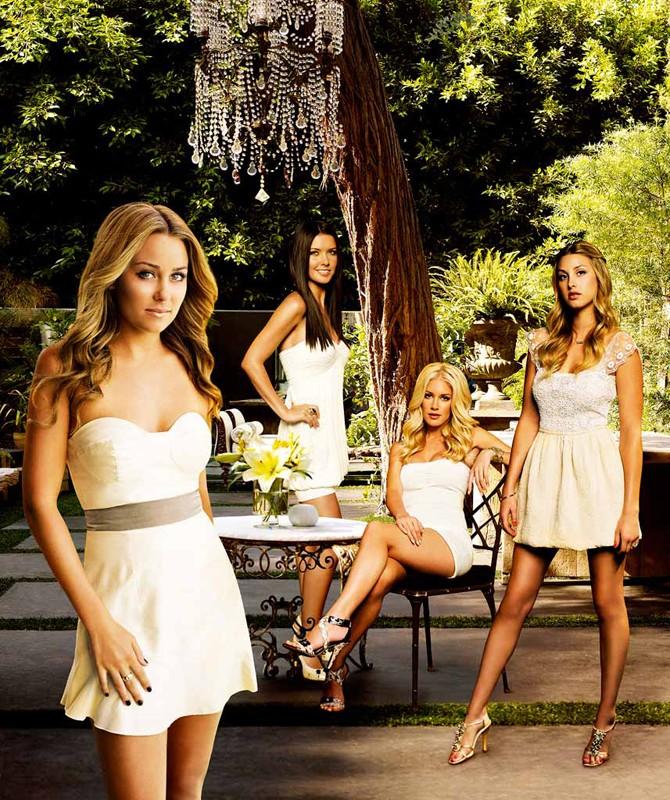 Una foto promo del cast principale della quarta stagione di The Hills
