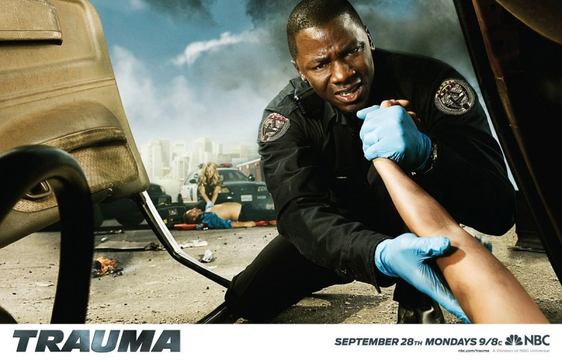 Uno dei suggestivi poster promozionali della serie Trauma