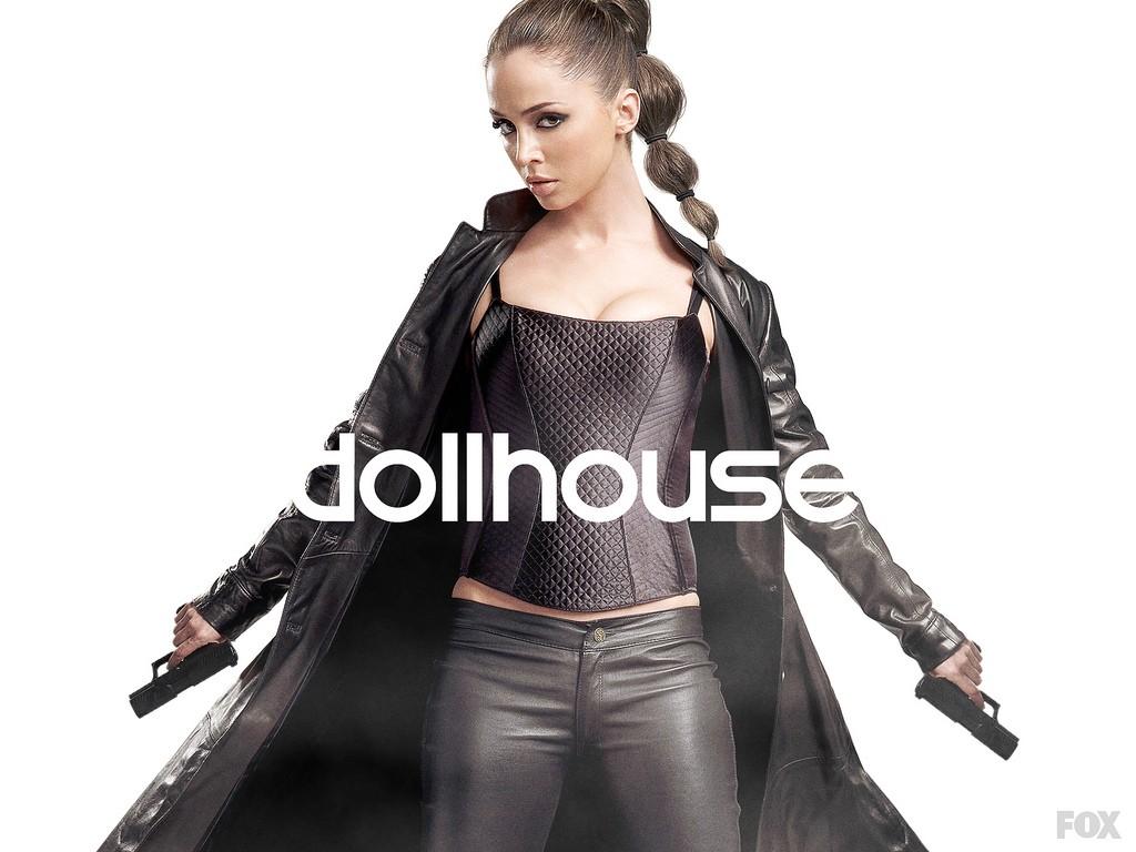 Eliza Dushku in uno dei wallpaper della seconda stagione di Dollhouse