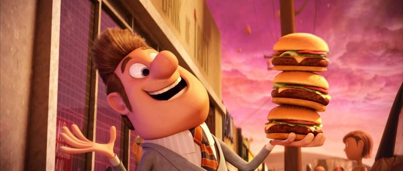 Il sindaco Shelbourne in un'immagine del film Piovono polpette