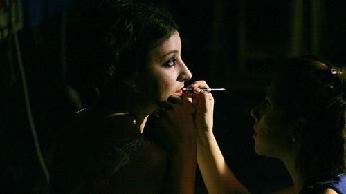 Ilaria Antoniani sul set del cortometraggio Beirut
