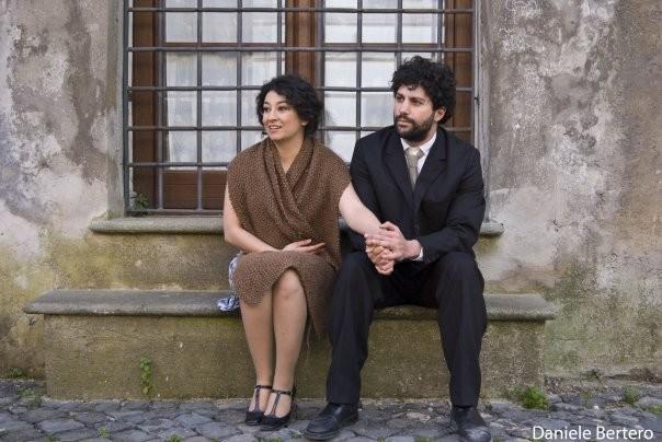 Ilaria Antoniani sul set di Giovinezza, di Umberto Francia