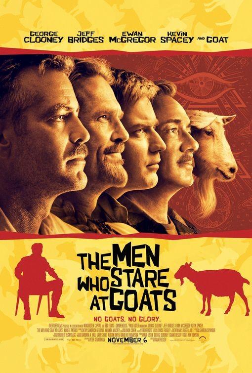 Nuovo divertente poster per The Men Who Stare at Goats