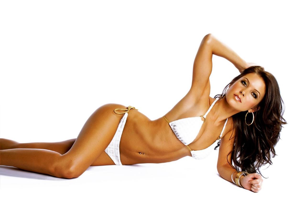 Wallpaper: Audrina Patridge in bikini bianco