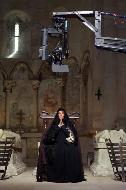 Angela Molina sul set del film Barbarossa