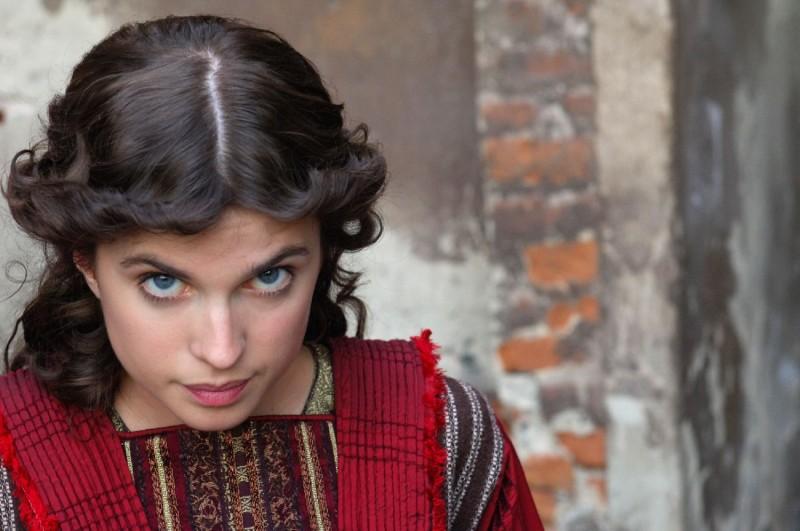 Cécile Cassel sul set del film Barbarossa