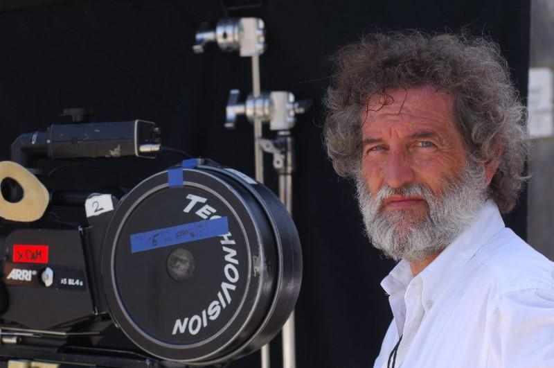 Il regista Renzo Martinelli sul set del film Barbarossa