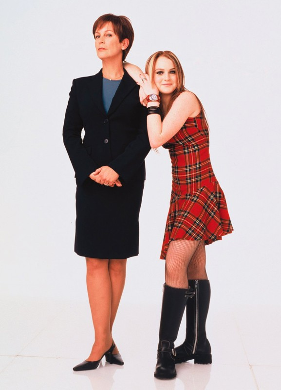 Jamie Lee Curtis (Tess Coleman) e Lindsay Lohan (Annabell Coleman) promo per il film Quel pazzo venerdì
