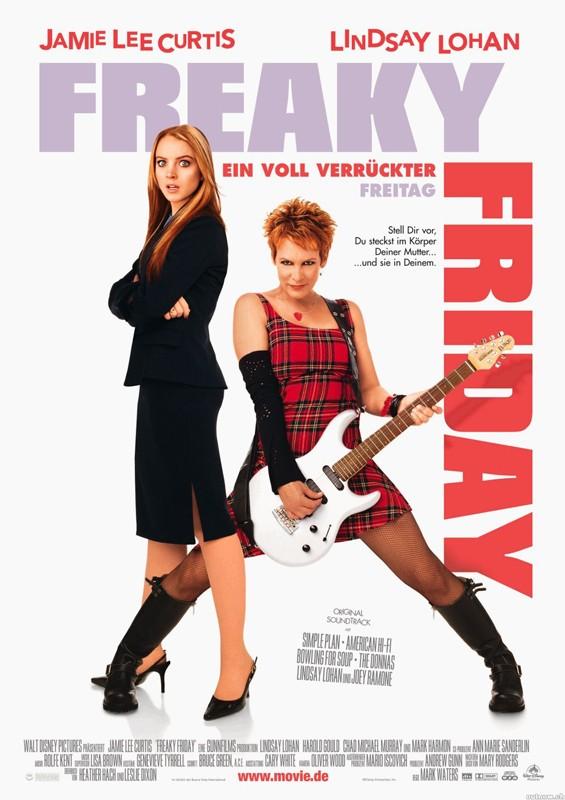 La locandina tedesca di Freaky Friday