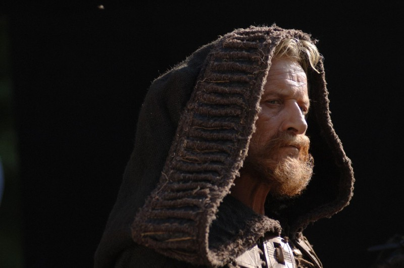 Rutger Hauer in una scena del film Barbarossa di Renzo Martinelli