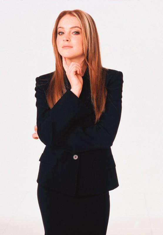 Una foto promo di Lindsay Lohan in versione mamma per il film Quel pazzo venerdì