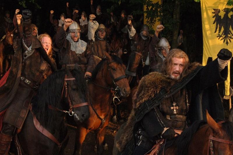 Una scena del film Barbarossa diretto da Renzo Martinelli