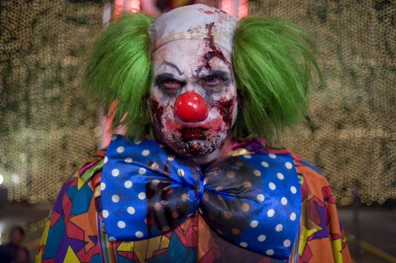 Il clown zombie del film Zombieland