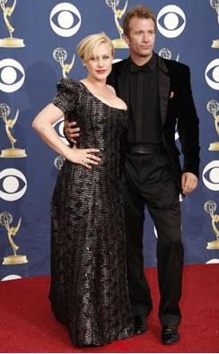 Emmy Awards 2009: Patricia Arquette con suo marito Thomas Jane